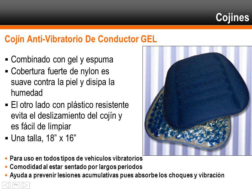 Fin Cojín Anti-Vibratorio De Conductor GEL Combinado con gel y espuma Cobertura fuerte de nylon es suave contra la piel y disipa la humedad El otro la