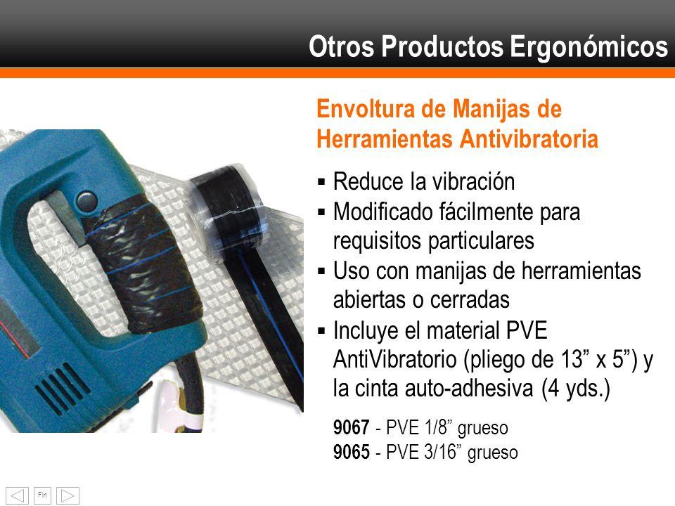 Fin Envoltura de Manijas de Herramientas Antivibratoria Reduce la vibración Modificado fácilmente para requisitos particulares Uso con manijas de herr