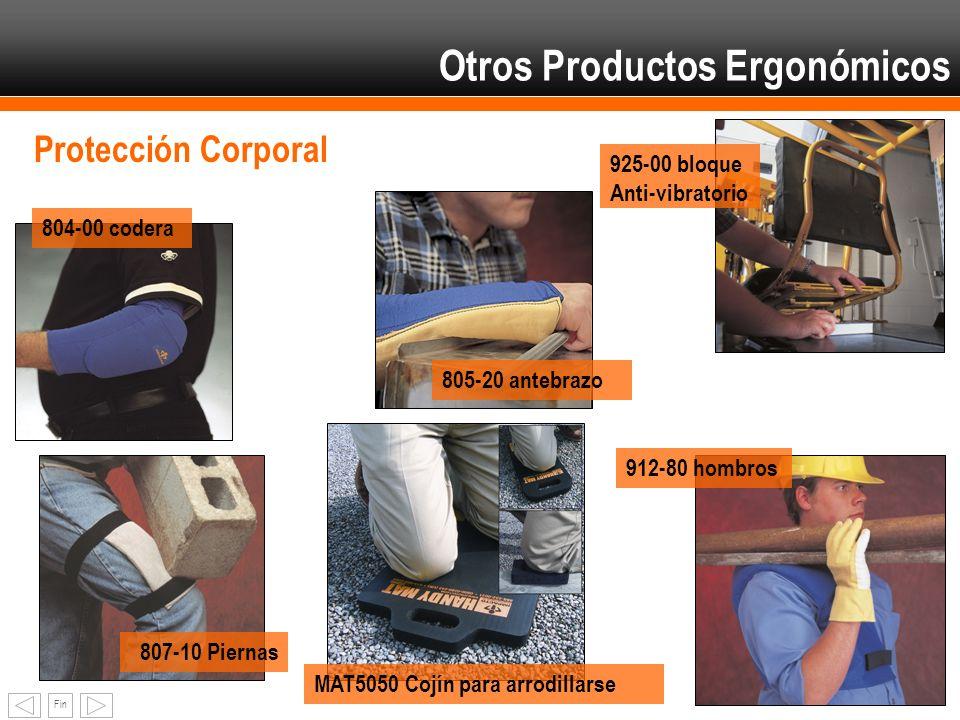 Fin Otros Productos Ergonómicos Protección Corporal MAT5050 Cojín para arrodillarse 805-20 antebrazo 804-00 codera 807-10 Piernas 912-80 hombros 925-0