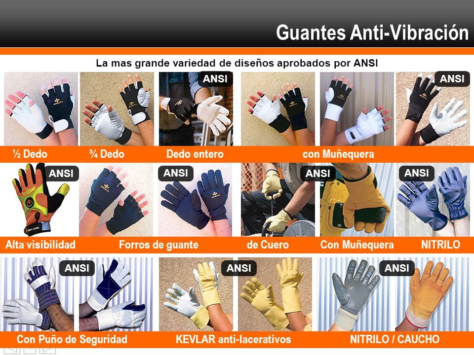 Fin Con Puño de SeguridadKEVLAR anti-lacerativos NITRILO / CAUCHO Alta visibilidadForros de guantede CueroCon MuñequeraNITRILO ½ Dedo¾ Dedo Dedo enter