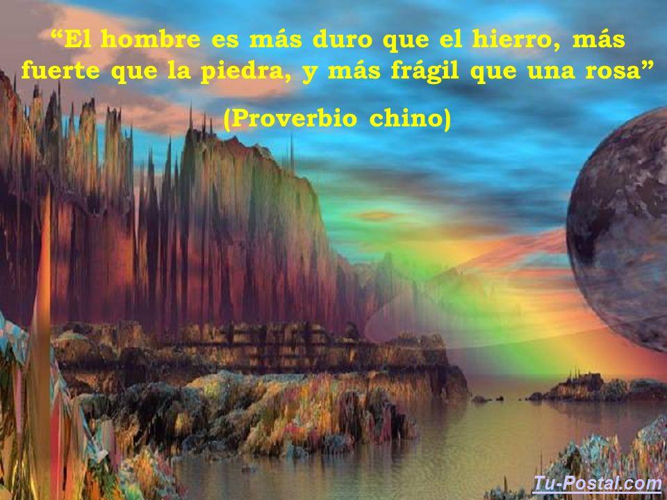 El hombre es más duro que el hierro, más fuerte que la piedra, y más frágil que una rosa (Proverbio chino) Tu-Postal.com