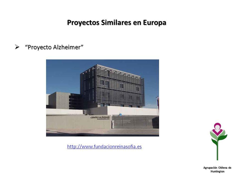 Proyectos Similares en Europa Agrupación Chilena de Huntington Proyecto Alzheimer Proyecto Alzheimer http://www.fundacionreinasofia.es