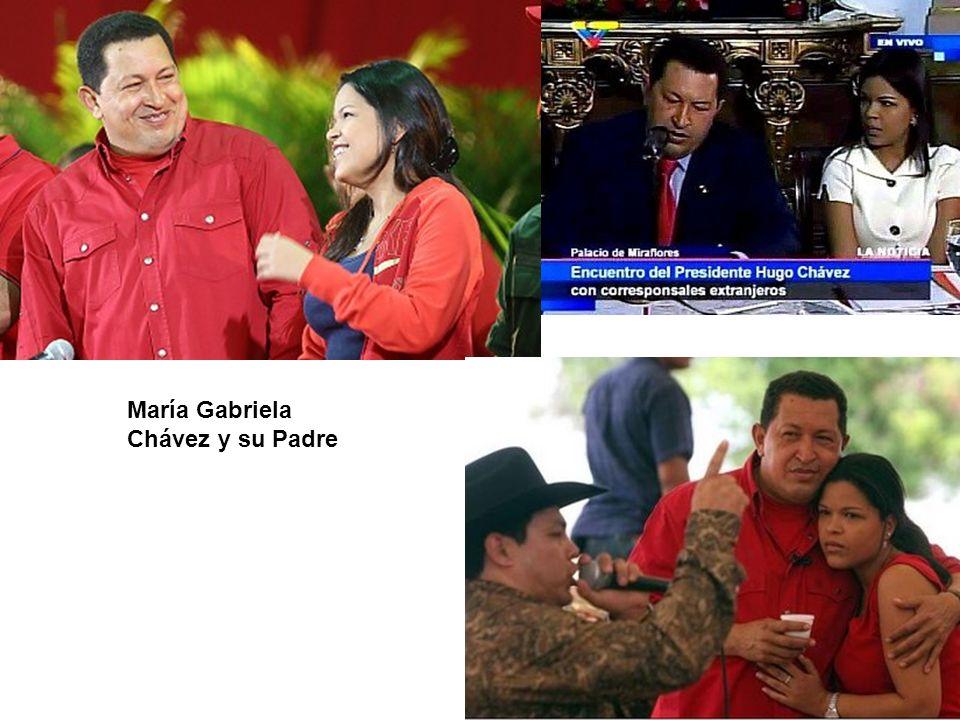María Gabriela Chávez y su Padre