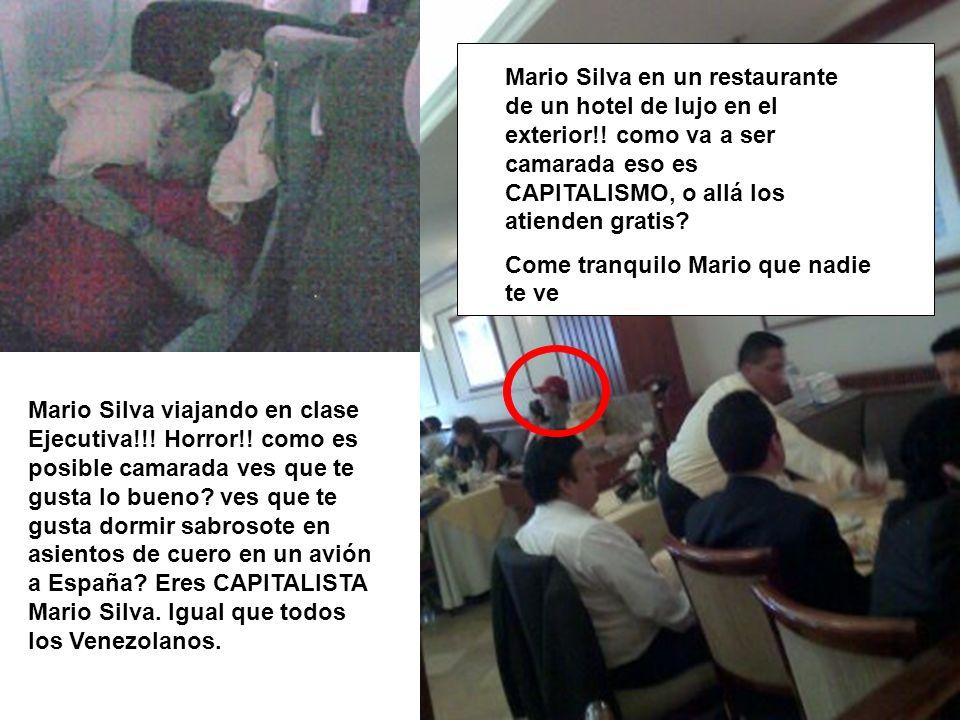Mario Silva viajando en clase Ejecutiva!!! Horror!! como es posible camarada ves que te gusta lo bueno? ves que te gusta dormir sabrosote en asientos