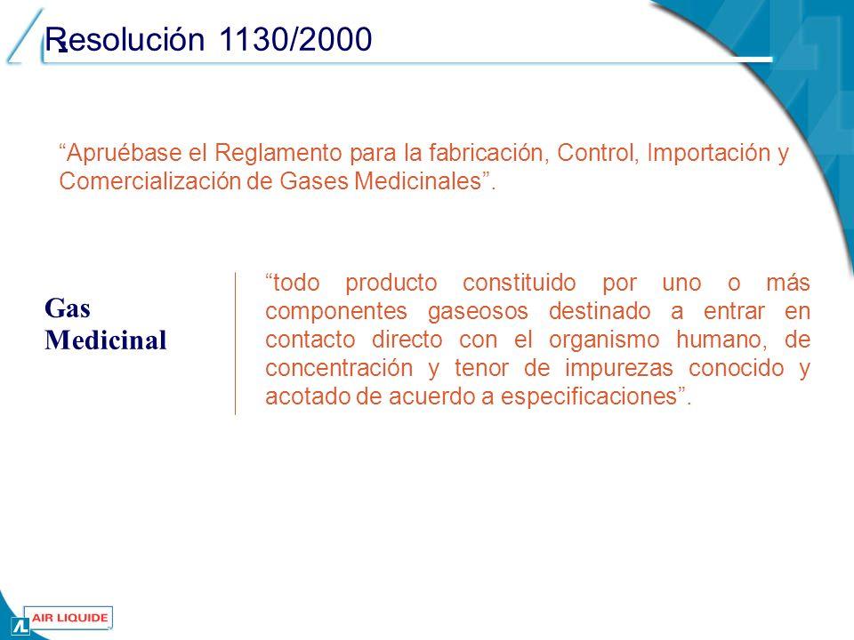 Propiedades (Cont.) Propiedades Biológicas (cont.) % en volumen de Oxígeno.