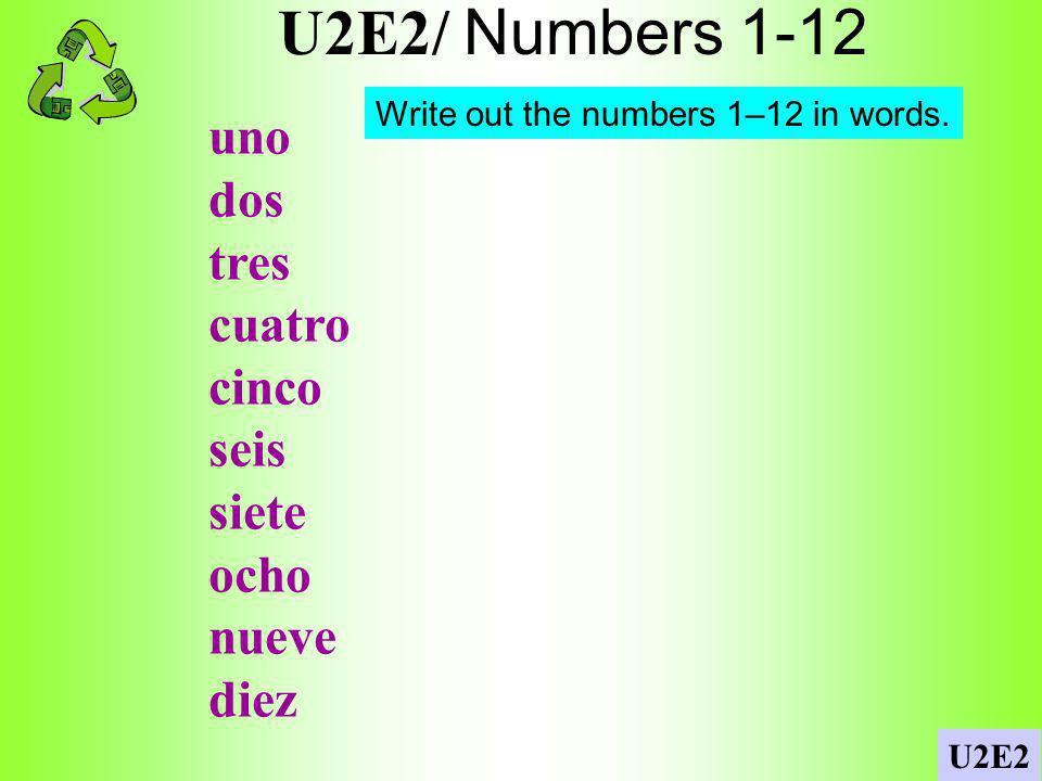 U2E2/ Interrogatives/Preguntas U2E2 Write 3 questions using 3 different interrogatives and 3 different verbs.