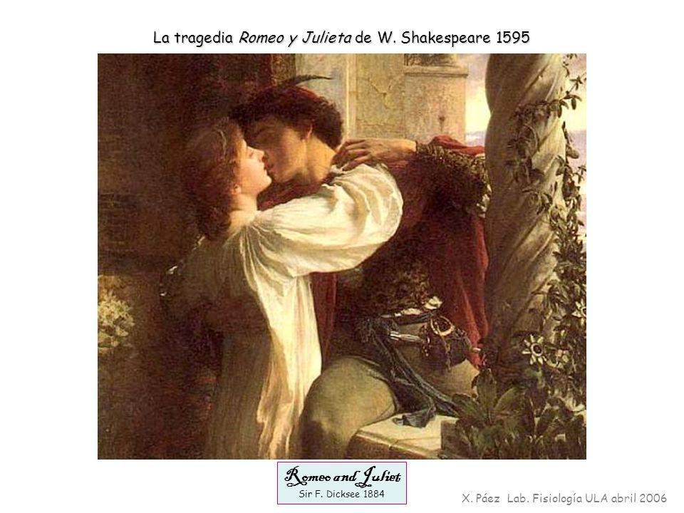 Romeo and Juliet Sir F. Dicksee 1884 X. Páez Lab. Fisiología ULA abril 2006 La tragedia Romeo y Julieta de W. Shakespeare 1595