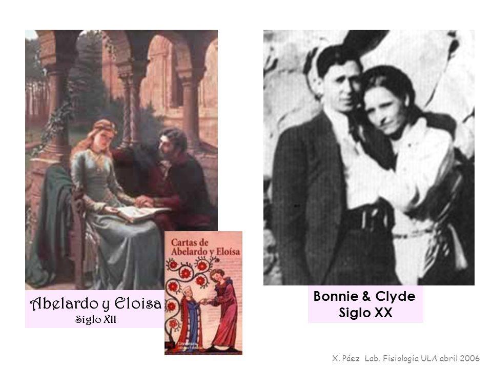 Bonnie & Clyde Siglo XX Abelardo y Eloisa Siglo XII X. Páez Lab. Fisiología ULA abril 2006