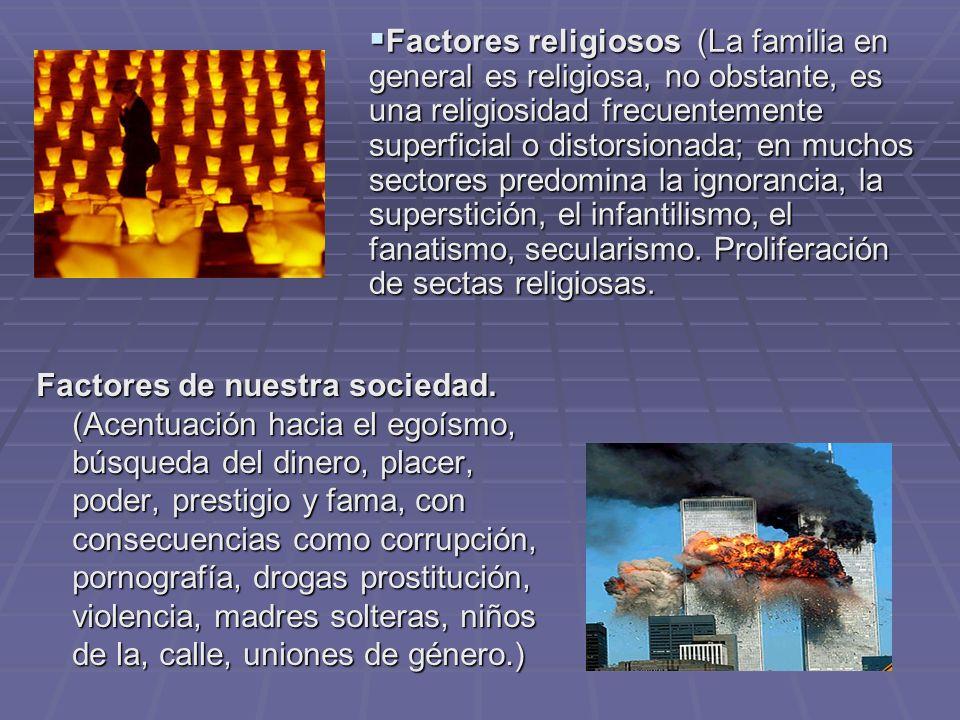 Factores de nuestra sociedad.