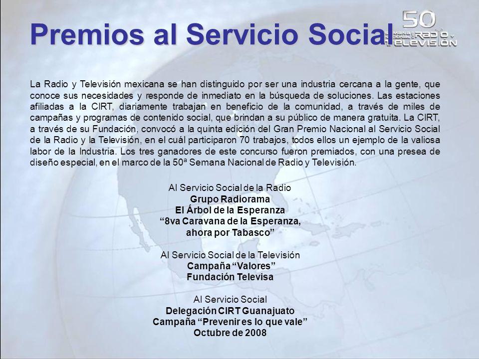La Radio y Televisión mexicana se han distinguido por ser una industria cercana a la gente, que conoce sus necesidades y responde de inmediato en la b
