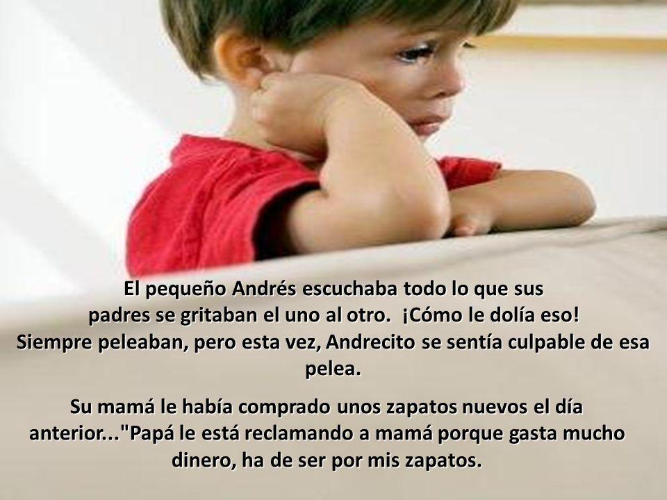 El pequeño Andrés escuchaba todo lo que sus padres se gritaban el uno al otro.
