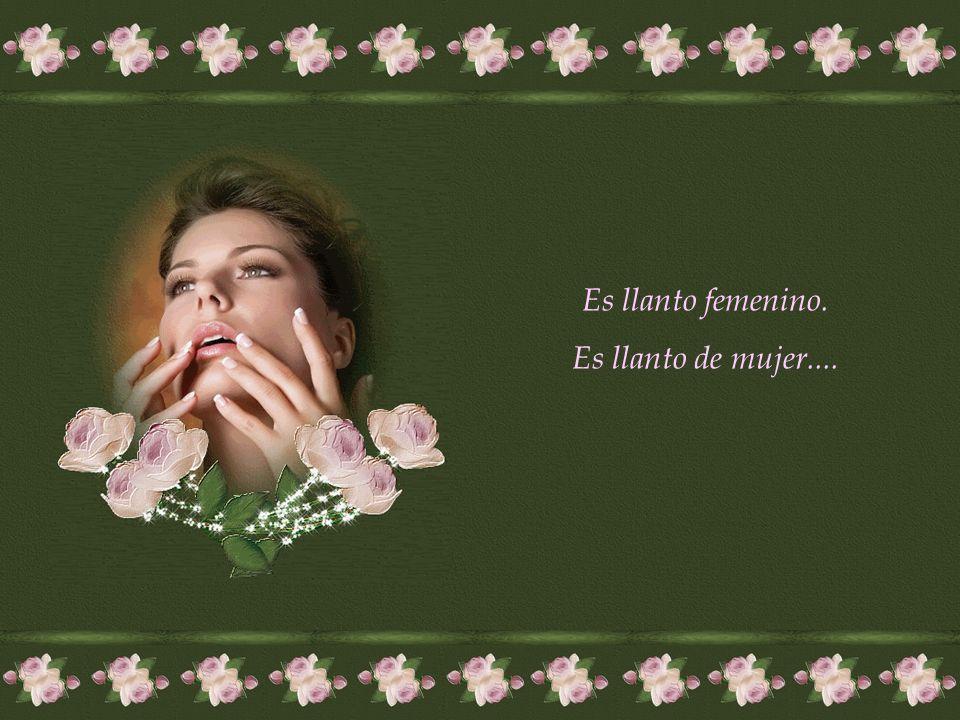Las lágrimas de las mujeres tienen un no sé qué, que cuando lloran transmiten algo de fragilidad, algo de amor, algo de divino, que tiene un efecto de