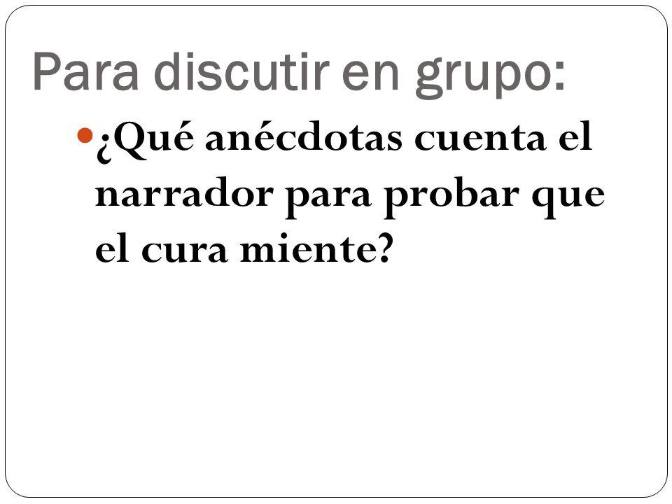 Para discutir en grupo: En los mortuorios Lazarillo siente un conflicto moral y religioso, ¿qué mensaje se puede deducir de este conflicto entre lo práctico y lo moral?
