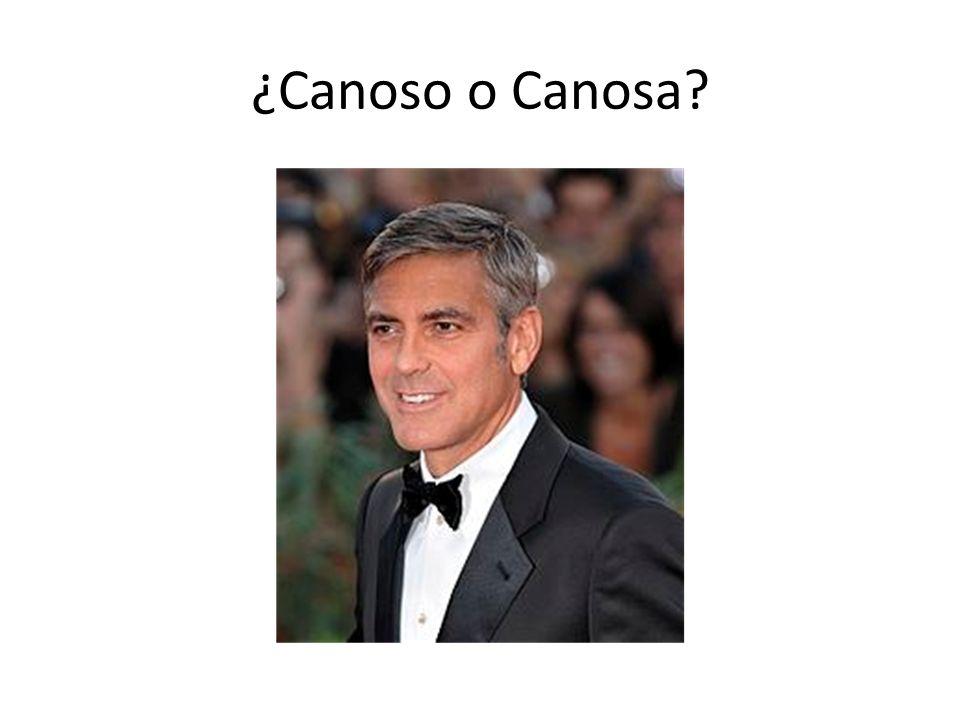 ¿Canoso o Canosa?