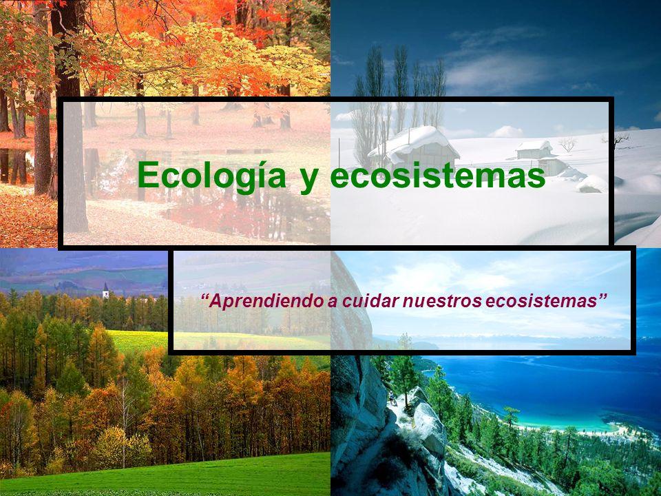 Ecología y ecosistemas Aprendiendo a cuidar nuestros ecosistemas