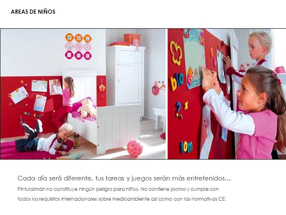 AREAS DE NIÑOS Cada día será diferente, tus tareas y juegos serán más entretenidos… PinturaImán no constituye ningún peligro para niños. No contiene p
