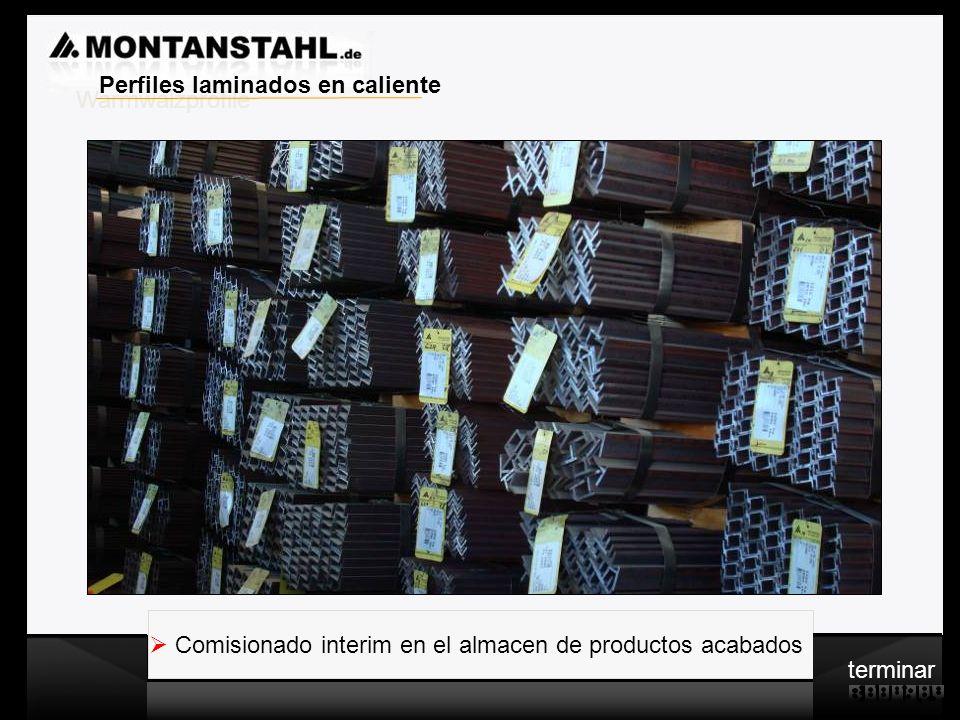 Laser - Profile Warmwalzwerk Comisionado interim en el almacen de productos acabados Warmwalzprofile Perfiles laminados en caliente terminar