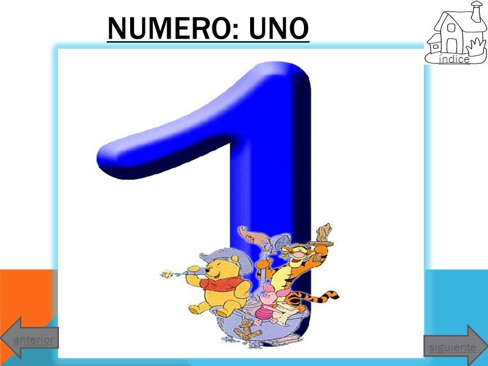 NUMERO: UNO índice anterior siguiente