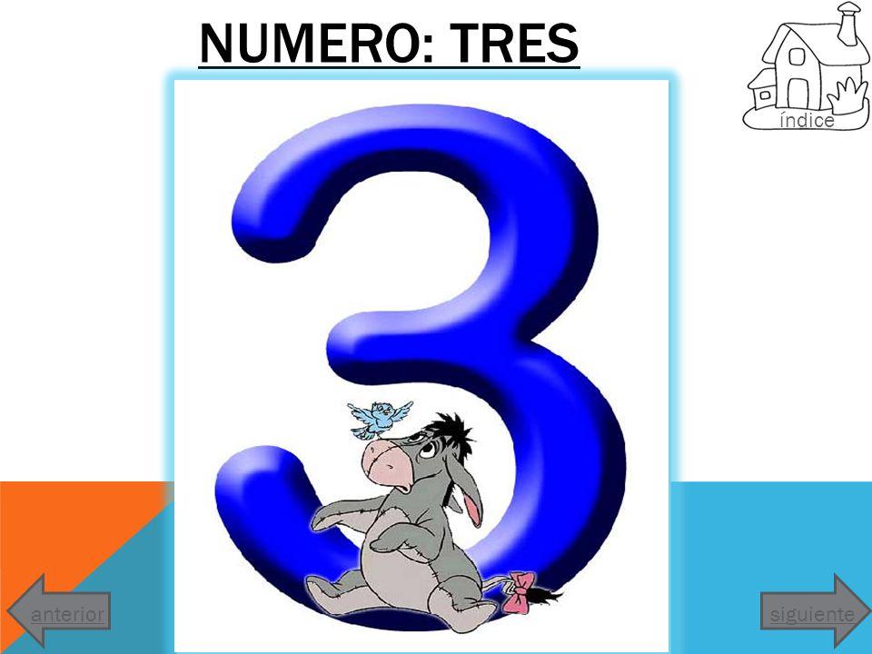 NUMERO: TRES índice siguienteanterior