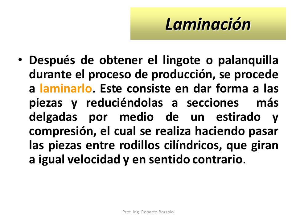 PROCESOS DE LAMINACIÓN Dentro del proceso de laminación existen dos tipos: Laminación en caliente.
