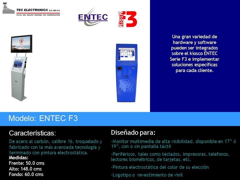 Modelo: ENTEC F3 Características: De acero al carbón, calibre 16, troquelado y fabricado con la más avanzada tecnología y terminado con pintura electr