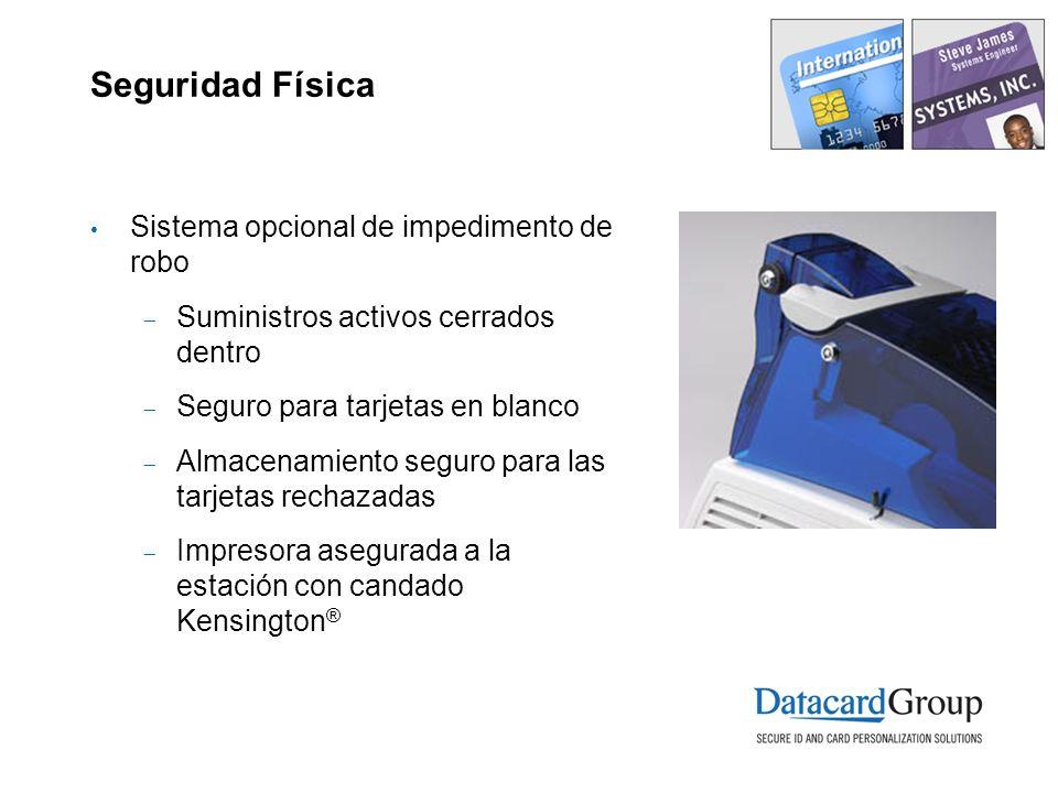 Seguridad Física Sistema opcional de impedimento de robo Suministros activos cerrados dentro Seguro para tarjetas en blanco Almacenamiento seguro para