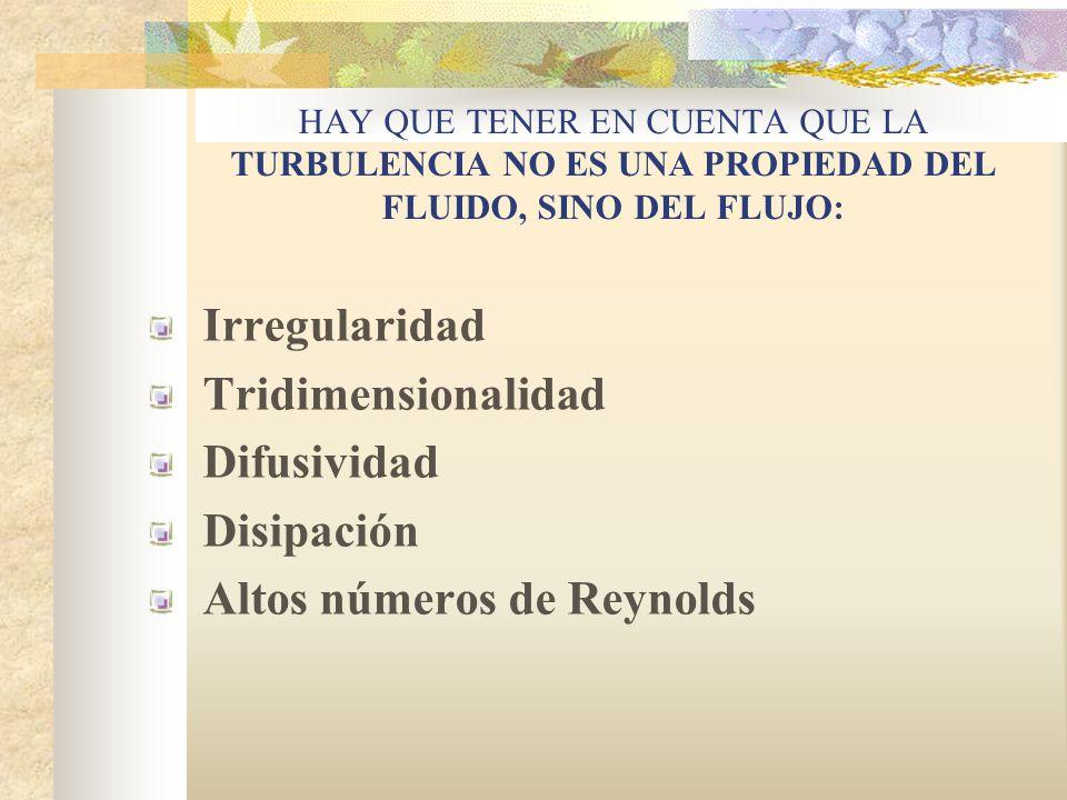 FLUJO PRINCIPAL REMOLINOS FLUJO TURBULENTO La transición del flujo laminar al turbulento y la complejidad del flujo turbulento cuando el humo de un ci