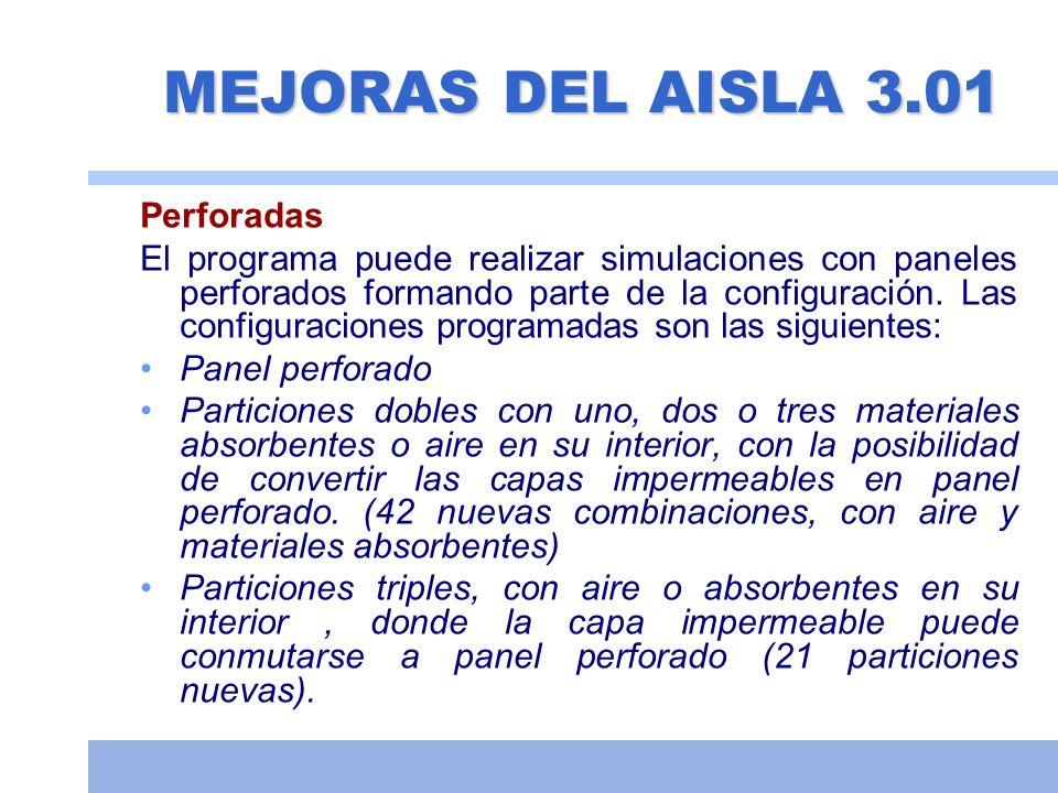 Tabiquería húmeda Configuración 1: Ladrillo (12 cm)+LANA (4 cm)+Ladrillo (5 cm) Simulación de lana de roca de 70 kg/m 3 (231/40) (62 dBA) (El ensayo original pone 63,1 dBA) Simulación de lana poliéster RC (58.5 dBA) Simulación de lana poliéster IGNIFUGA (61 dBA) Simulación lana vidrio de 60 kg/m 3 (60,1 dBA) Simulación lana de roca de 40 kg/m 3 (Confortpan 208) (58 dBA) Configuración 2: Ladrillo (12 cm)+LANA (5 cm)+Ladrillo (5 cm) Simulación de lana de roca de 70 kg/m 3 (231-652) (64.4 dBA) Simulación de lana poliéster RC (61 dBA) Simulación de lana poliéster IGNIFUGA (63 dBA) Simulación lana vidrio de 60 kg/m 3 (62,1 dBA) Simulación lana de roca de 40 kg/m 3 (Confortpan 208) (60 dBA) (Datos obtenidos de la página web de los fabricantes).
