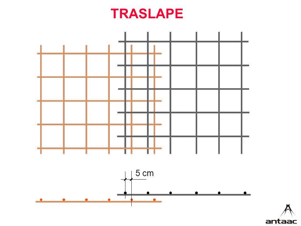 TRASLAPE 5 cm
