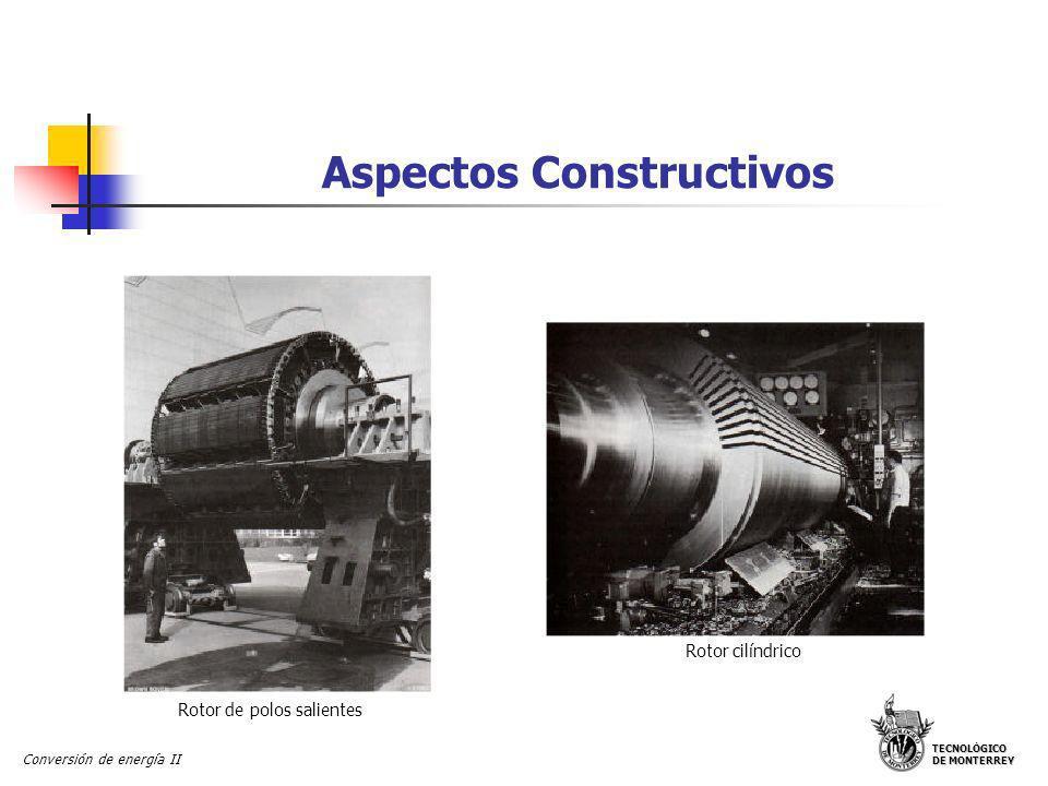 TECNOLÓGICO DE MONTERREY Conversión de energía II Aspectos Constructivos Rotores de polos salientes para máquinas sincrónicas