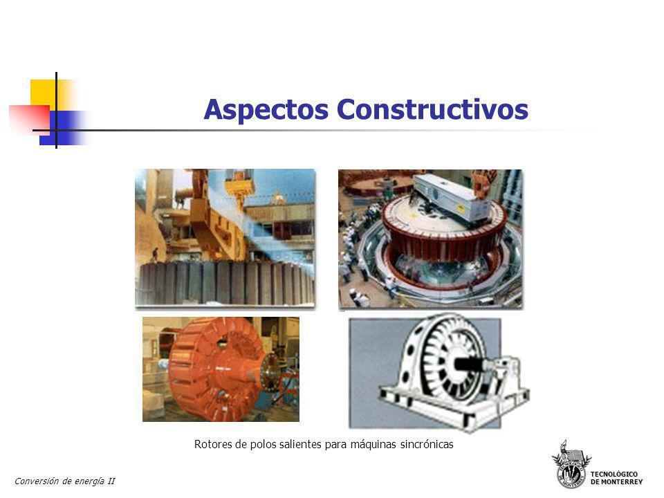 TECNOLÓGICO DE MONTERREY Conversión de energía II Aspectos Constructivos Polo saliente de una máquina sincrónica Devanado de campo