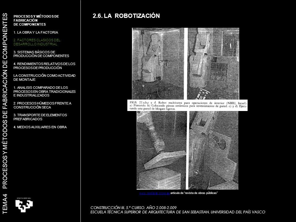 TEMA 4 PROCESOS Y MÉTODOS DE FABRICACIÓN DE COMPONENTES CONSTRUCCIÓN III.