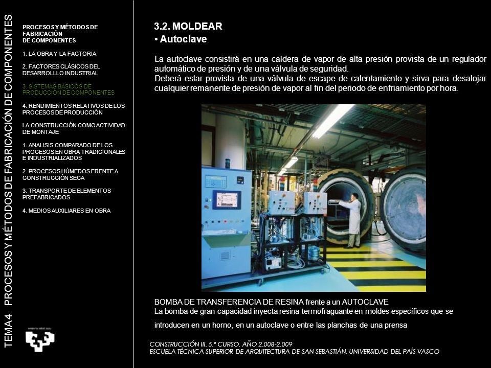 La autoclave consistirá en una caldera de vapor de alta presión provista de un regulador automático de presión y de una válvula de seguridad.