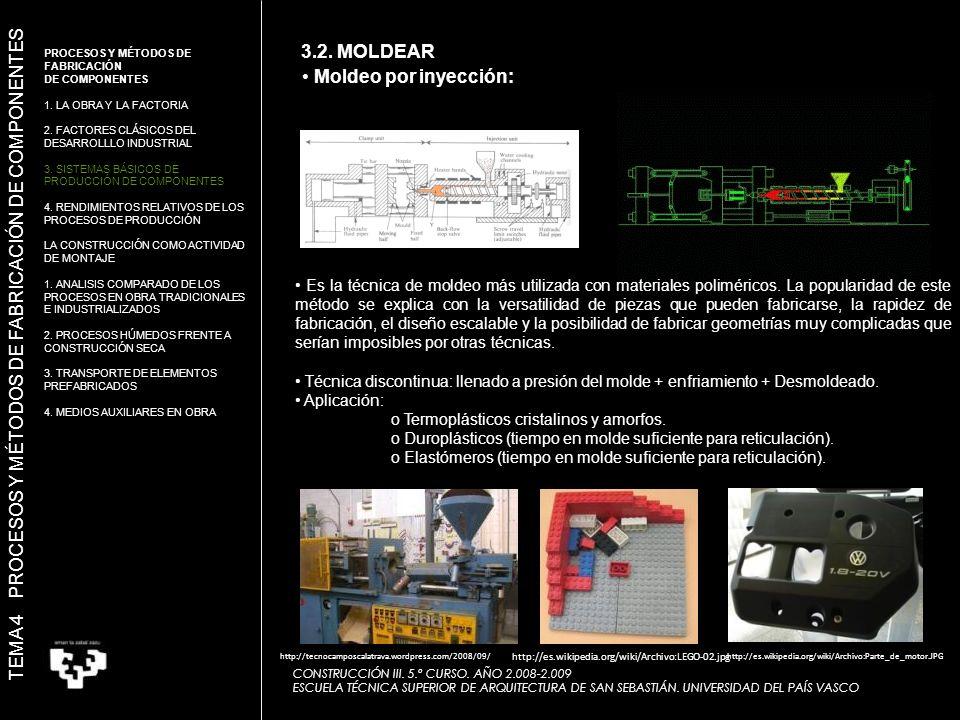 Es la técnica de moldeo más utilizada con materiales poliméricos.
