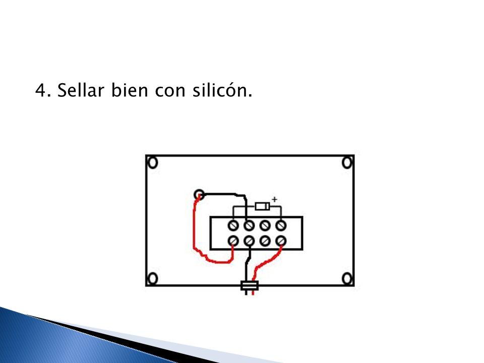 4. Sellar bien con silicón.