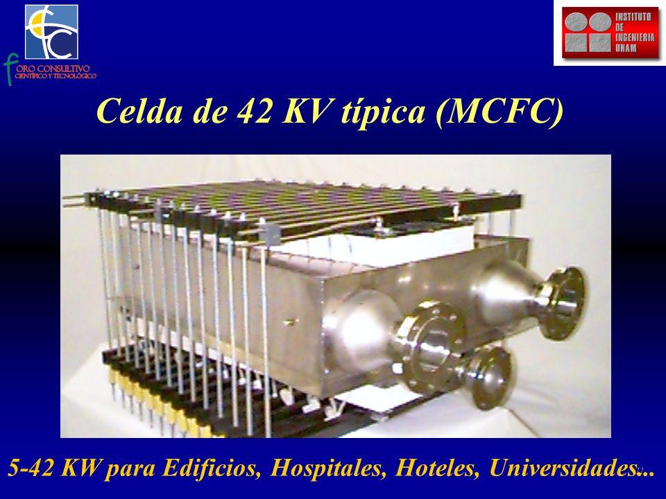 11 Celda de 42 KV típica (MCFC) 5-42 KW para Edificios, Hospitales, Hoteles, Universidades...