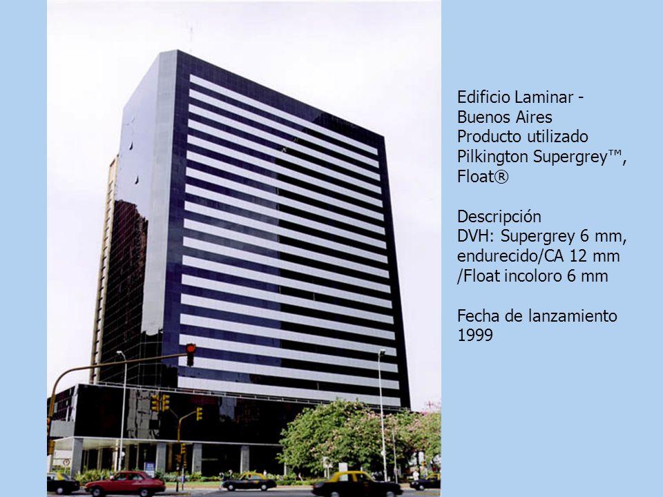 Edificio Laminar - Buenos Aires Producto utilizado Pilkington Supergrey, Float® Descripción DVH: Supergrey 6 mm, endurecido/CA 12 mm /Float incoloro 6