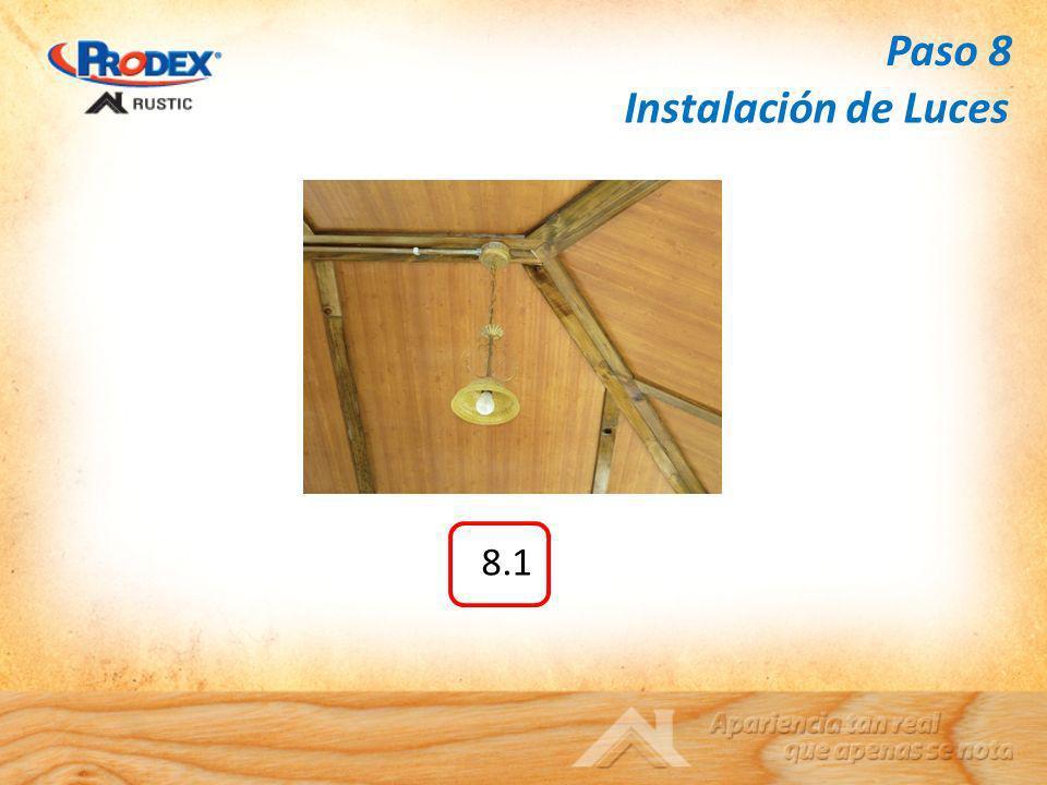 8.1 Instalación de Luces Paso 8