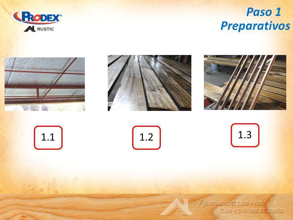 Paso 1 1.11.2 1.3 Preparativos