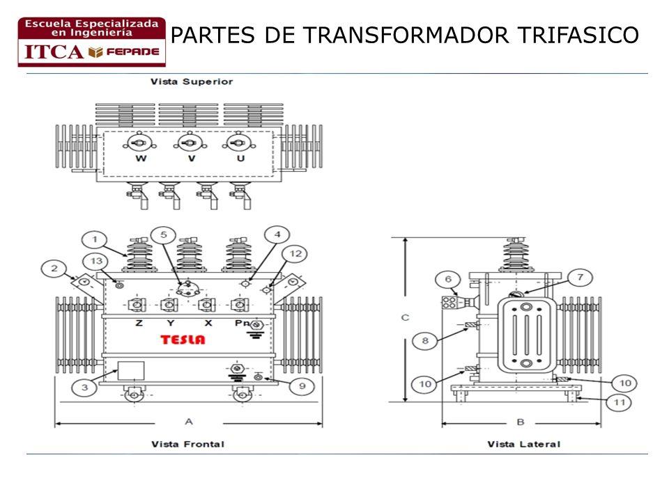 PARTES DE TRANSFORMADOR TRIFASICO