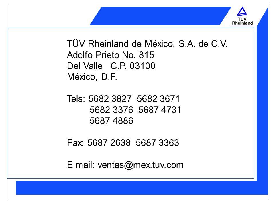 EMPRESAS CERTIFICADAS Algunas de las empresas que han recibido los servicios de TÜV Rheinland de México, son: Fábrica de Cordeles de México General As