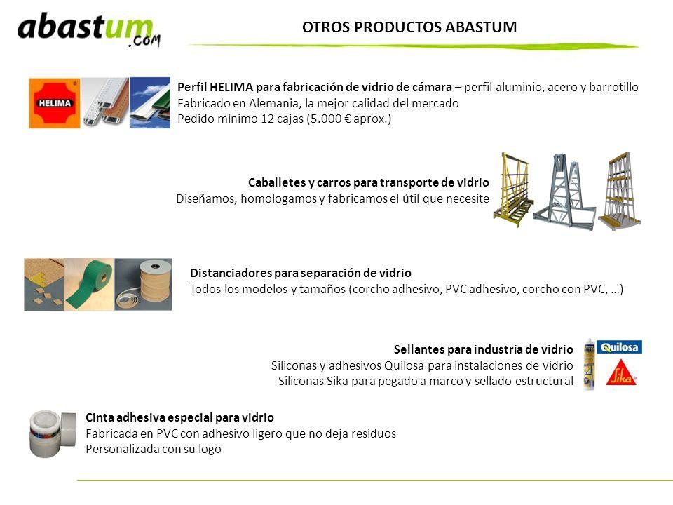 OTROS PRODUCTOS ABASTUM Perfil HELIMA para fabricación de vidrio de cámara – perfil aluminio, acero y barrotillo Fabricado en Alemania, la mejor calid