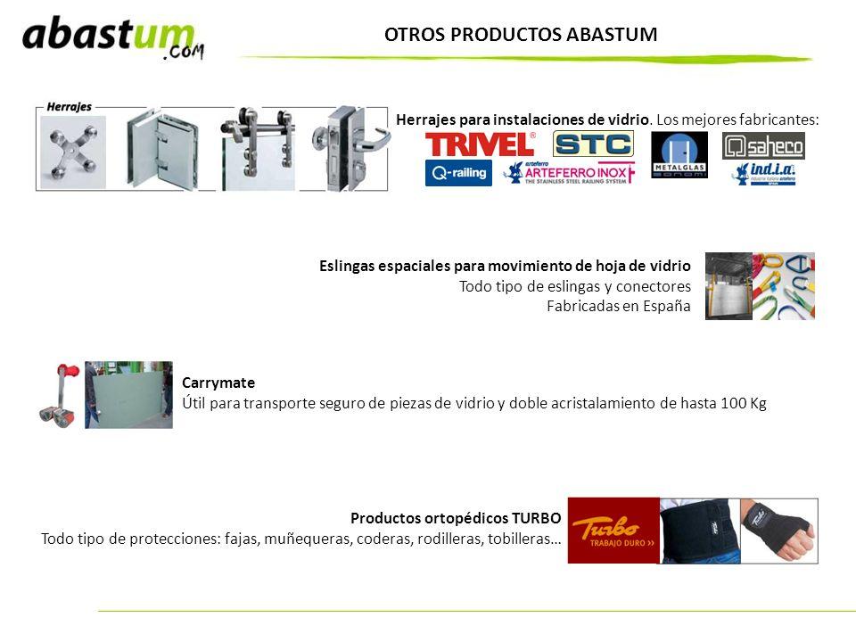OTROS PRODUCTOS ABASTUM Carrymate Útil para transporte seguro de piezas de vidrio y doble acristalamiento de hasta 100 Kg Productos ortopédicos TURBO
