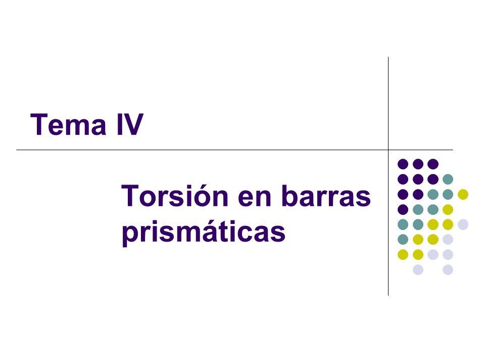 Tema IV Torsión en barras prismáticas