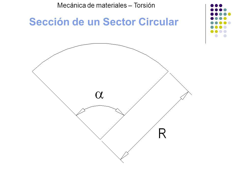 Sección de un Sector Circular Mecánica de materiales – Torsión