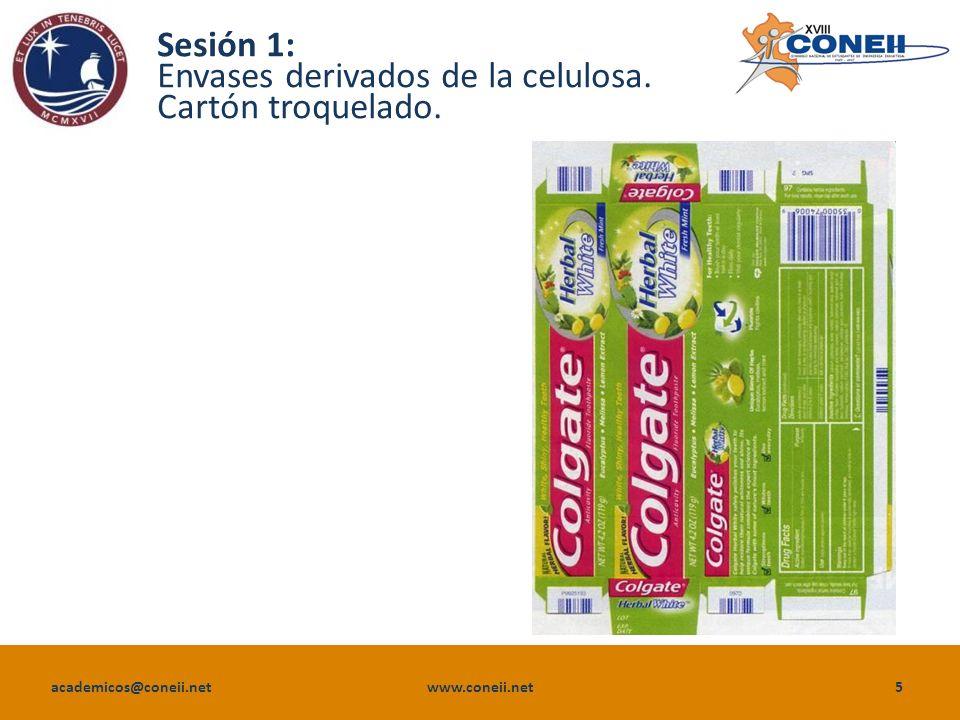 academicos@coneii.net www.coneii.net6 Sesión 1: Envases derivados de la celulosa.