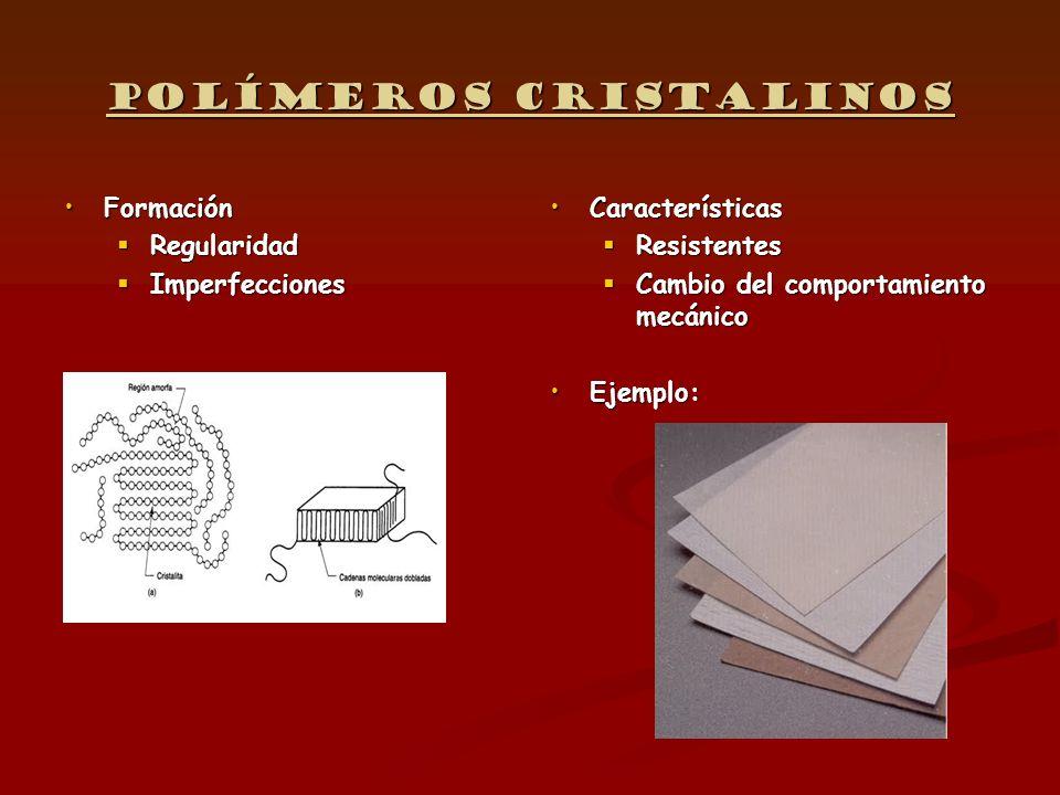 Elastómeros Estructura linealEstructura linealCaracterísticas: Amorfos Blandos Muy elásticos No soportan el calor Envejecimiento: o- elasticidad o+ rigidez 1 Tipos de elastómeros