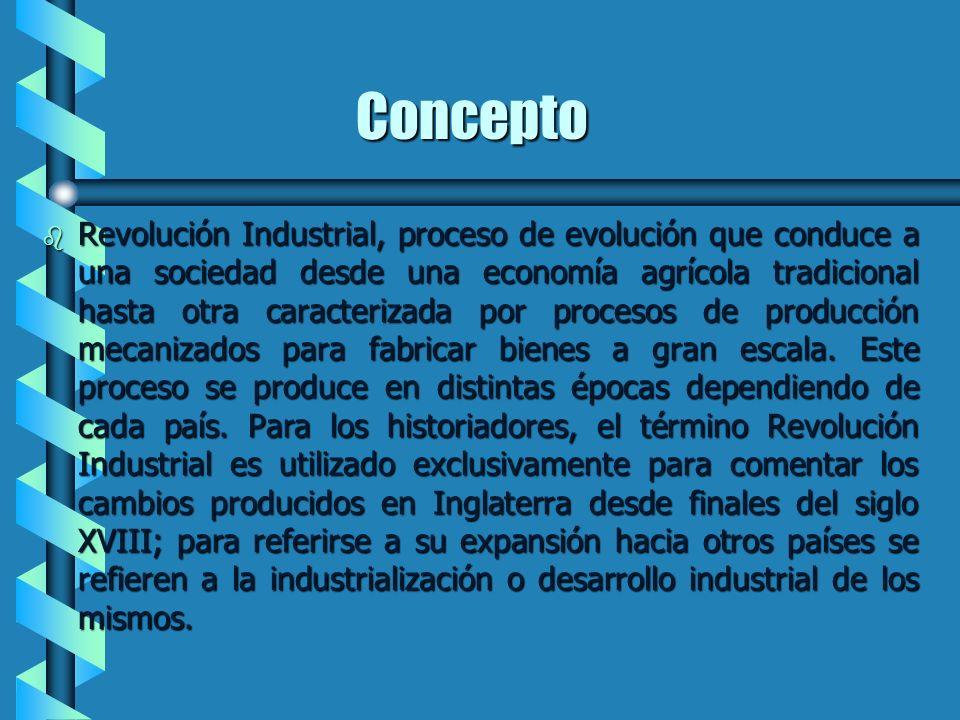 Primera Revolución Industrial 1.- Concepto de Revolución Industrial. Concepto de Revolución Industrial.Concepto de Revolución Industrial. 2.- Localiza