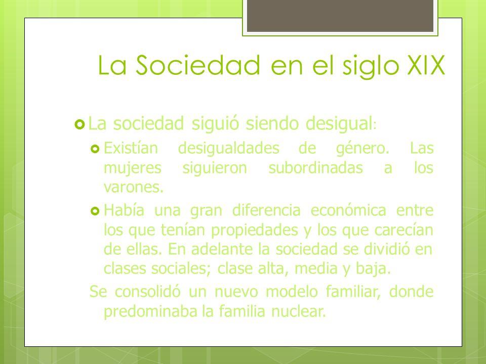 Los Cambios Sociales 1.- A través de las gráficas, ilustraciones, textos, etc. Explica cómo era la sociedad en el siglo XIX. 2.- El movimiento obrero: