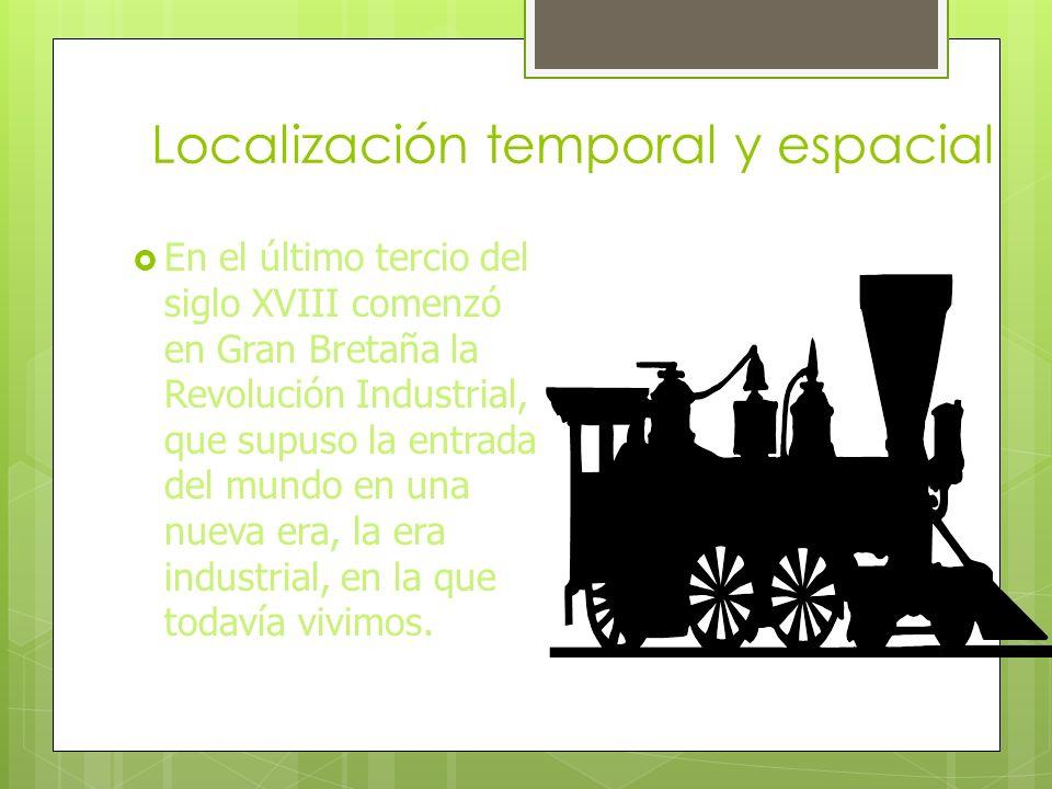 Concepto Revolución Industrial, proceso de evolución que conduce a una sociedad desde una economía agrícola tradicional hasta otra caracterizada por p